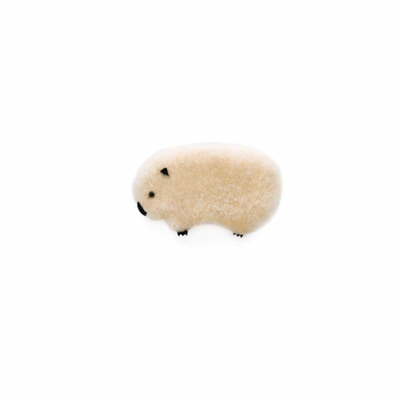 Sheepskin Wombat Toy - Cream