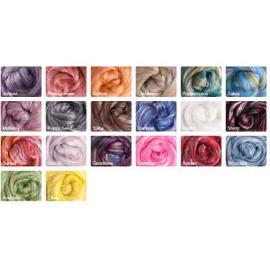Merino & Silk Wool Roving 100gm