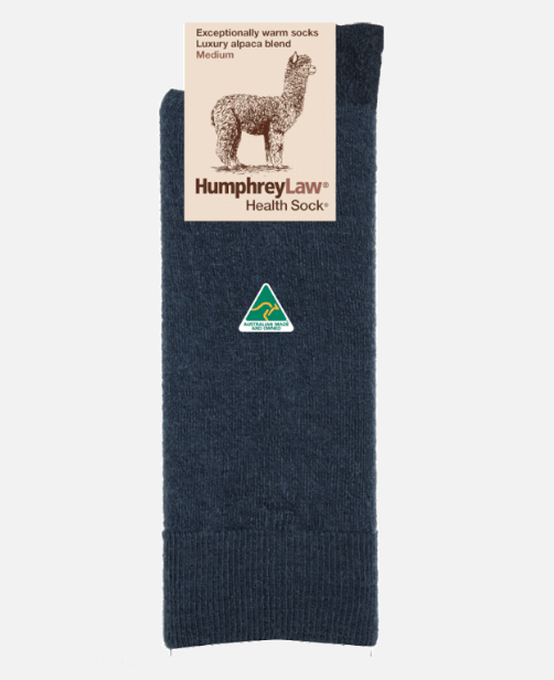Humphrey Law Baby Alpaca Blend Socks - Ladies 3-8, Denim