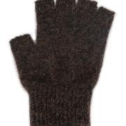 Possum Merino Fingerless Gloves Large - Brown Marl, Large