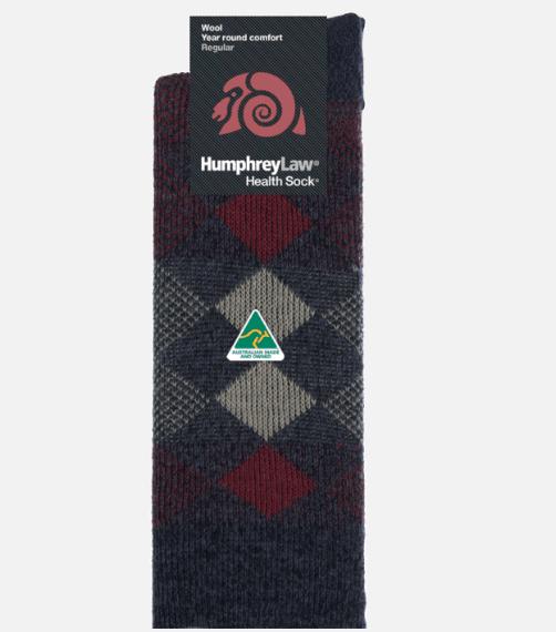 Humphrey Law 95% Wool Jacquard Health Sock