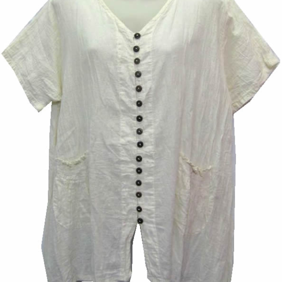 Cotton Top With Pockets
