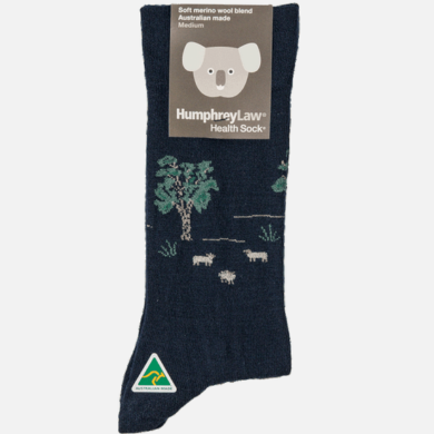 Humphrey Law Wool Sheep Pattern Socks