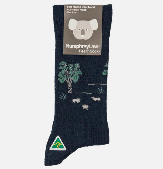 Humphrey Law Wool Sheep Pattern Socks