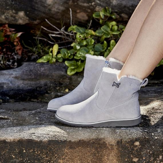 Emu Beach Mini Sheepskin Boots - Dove Grey