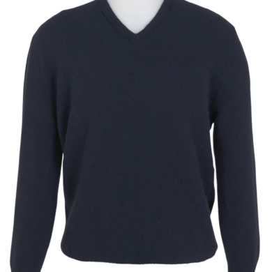 MKM Possum Merino V Neck Rib Jumper
