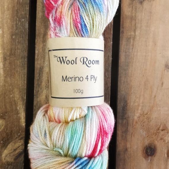 Hand Dyed Merino Wool 4 Ply 100g