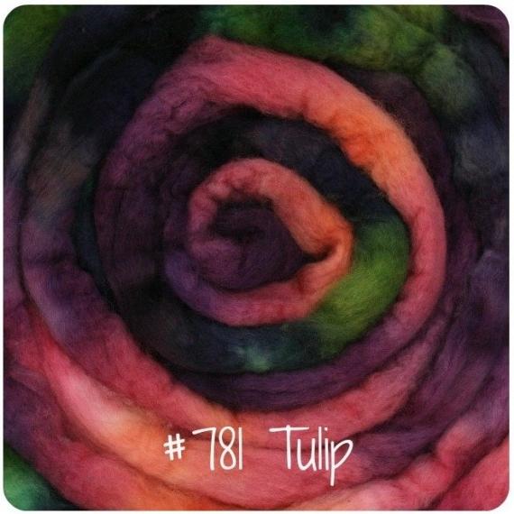 Merino Wool Roving 115g Tulip