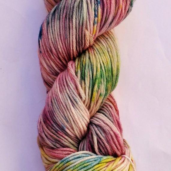 Hand Dyed Merino Wool 8 Ply 100g - Unicorn Dust