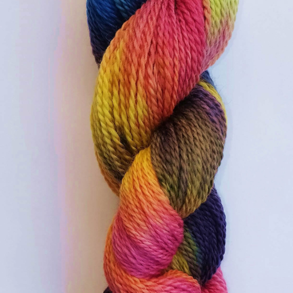 Hand Dyed Corriedale 8 Ply - 100g Comet