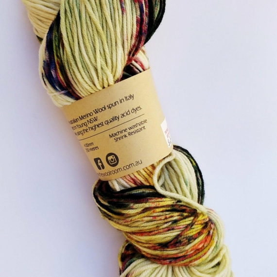 Hand Dyed Merino Wool 4 Ply 100g - Aragonite