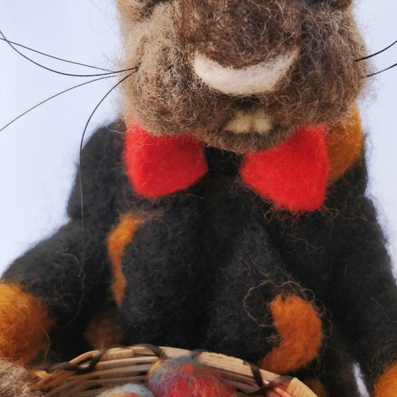 Felted Wool Evil Easter Hare