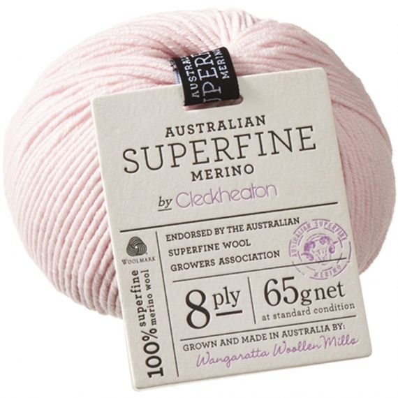 Cleckheaton Superfine Merino 8 Ply - Vintage Pink