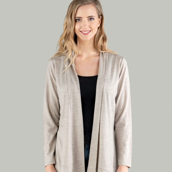 Merino Essentials Cardigan Mocha