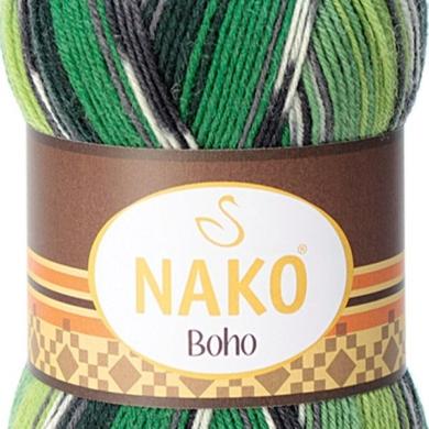 Nako Boho 4 Ply 100g Greens
