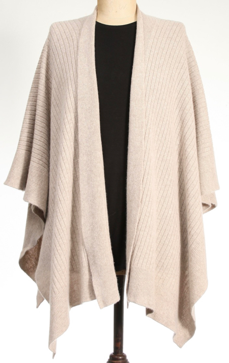 Cashmere Ribbed Cape