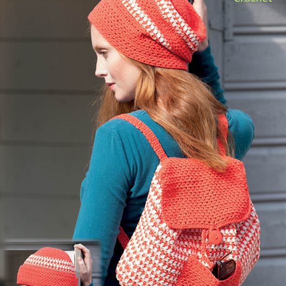 Crochet Beanie & Backpack Leaflet 8 Ply