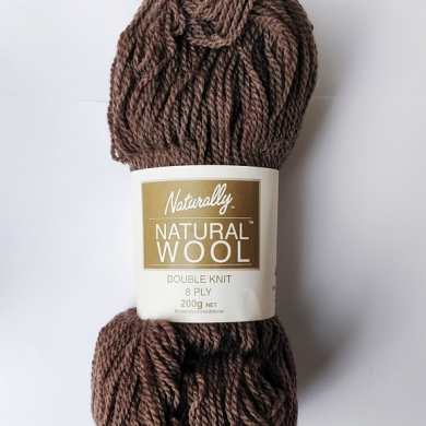 Naturally Natural Wool 8 Ply 200g Brown