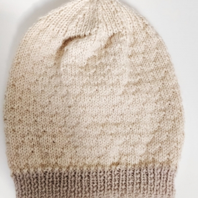 Merino Wool Baby Beanie 6-9m