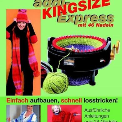 Addi Kingsize Express Knitting Machine Pattern Book