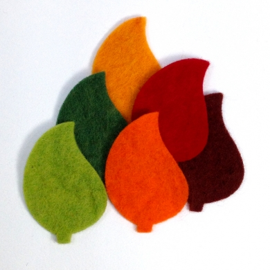 Wool Felt Leaves - Autumn