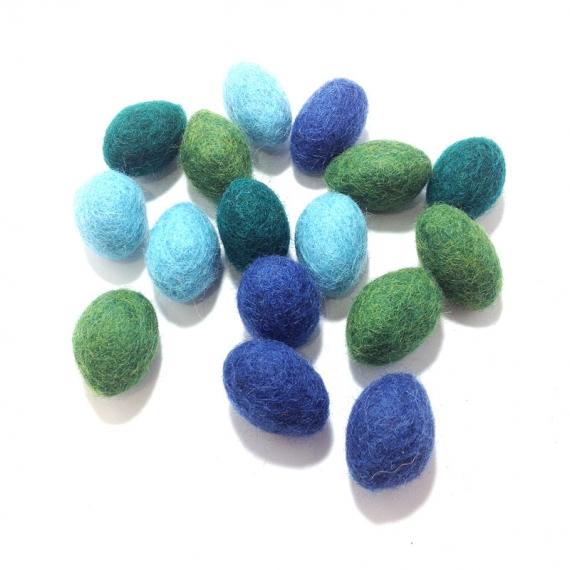 Wool Felt Pebbles