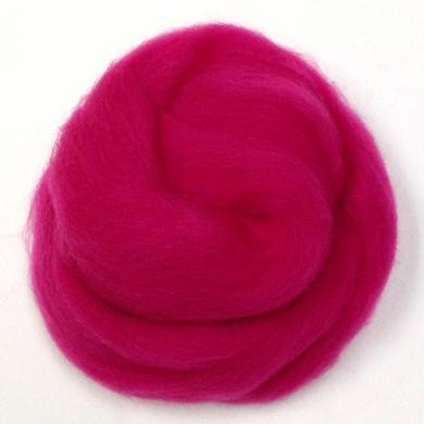 Merino Wool Roving Hot Pink 80g