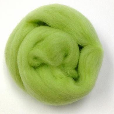 Merino Wool Roving Lime 80g