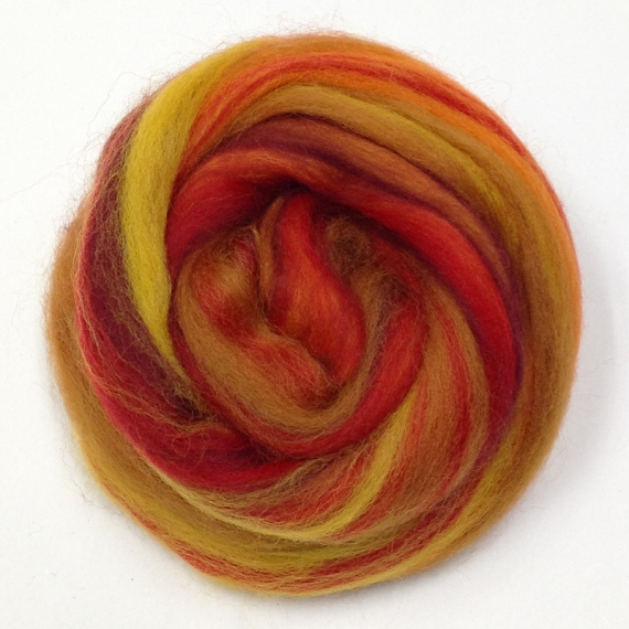 Merino Wool Roving 500g - Autumn