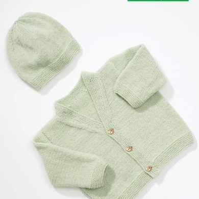 Loyal 4 Ply Baby / Kids Cardigan Beanie Pattern