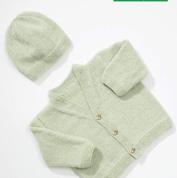 Loyal 4 Ply Baby / Kids Cardigan Beanie Pattern