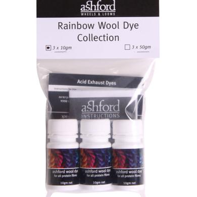 Ashford Rainbow Dye Kit - 3 Pack 10g