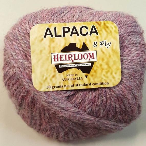 Heirloom Alpaca 8 Ply - Tea Rose