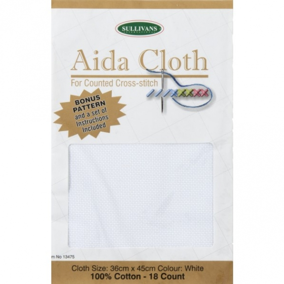 Aida Cloth 18ct White