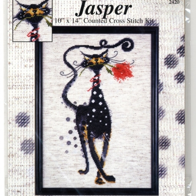 Cross Stitch Kit - Jasper With Rose