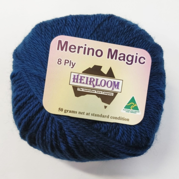 Heirloom Merino Magic 8 Ply - Dark Grey