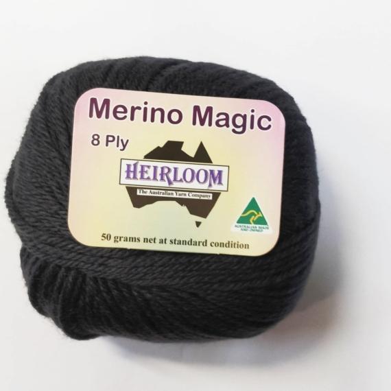 Heirloom Merino Magic 8 Ply - Dark Grey