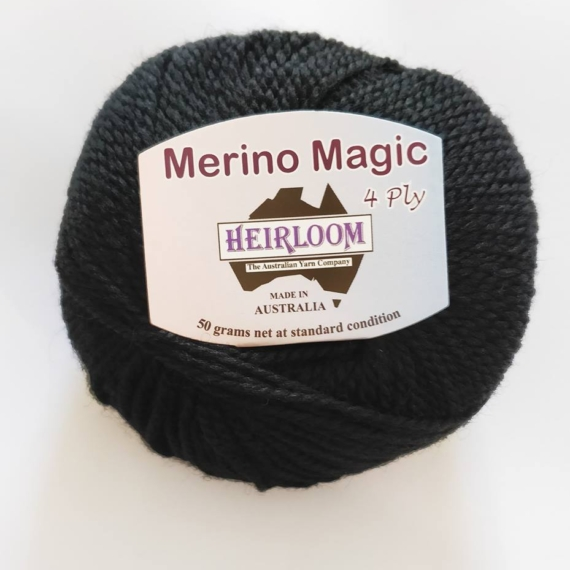 Heirloom Merino Magic 4 Ply - Black