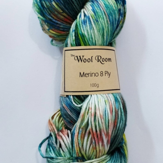Hand Dyed Corriedale 8 Ply - 100g Midnight Bliss
