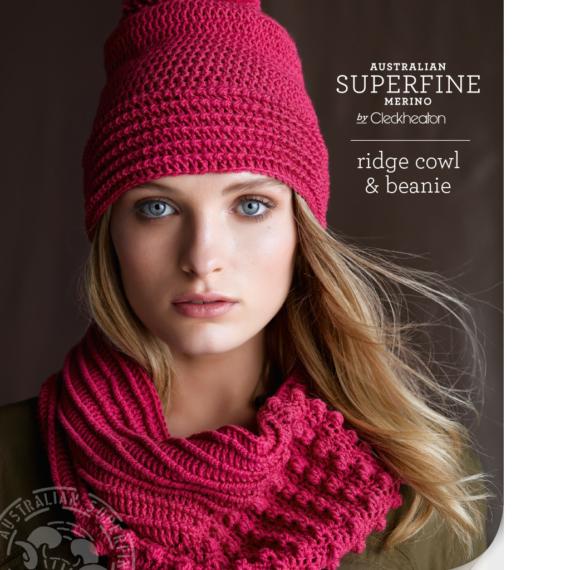 Crochet Ridge Cowl & Beanie Pattern