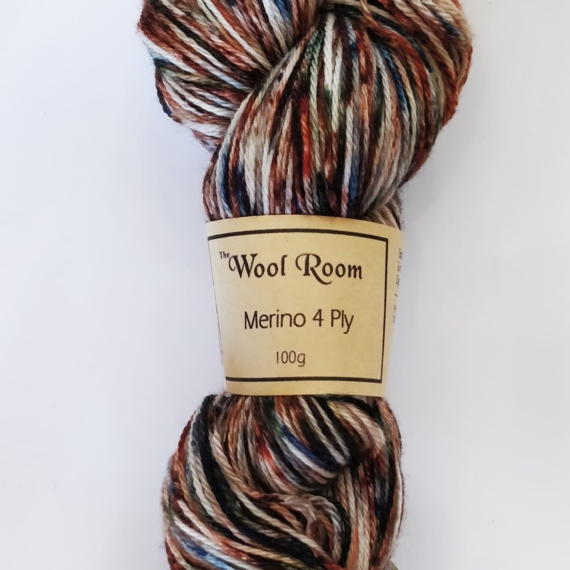 Hand Dyed Merino Wool 4 Ply 100g - Earthzone