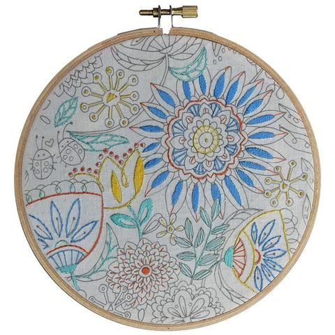 Colour Me In Embroidery - Flower Art
