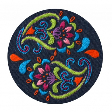 Bucilla Embroidery Kit - Denim Bohemian Paisley