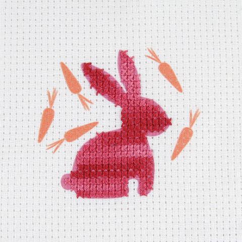Red Rabbit Cross Stitch Kit
