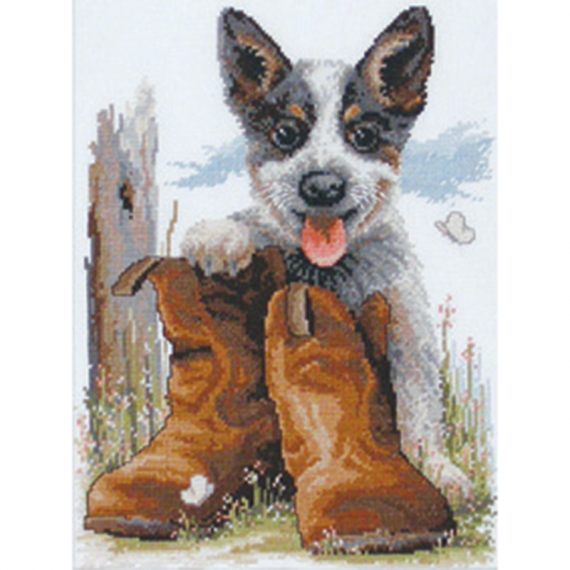 DMC Cross Stitch Kit - Blueys Boots