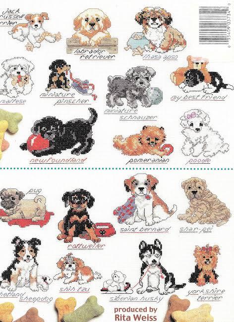 Cross Stitch - An Encyclopedia of Puppies