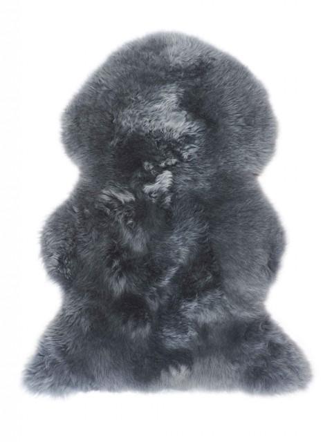 Long Wool Sheepskin Rug Charcoal 3XL