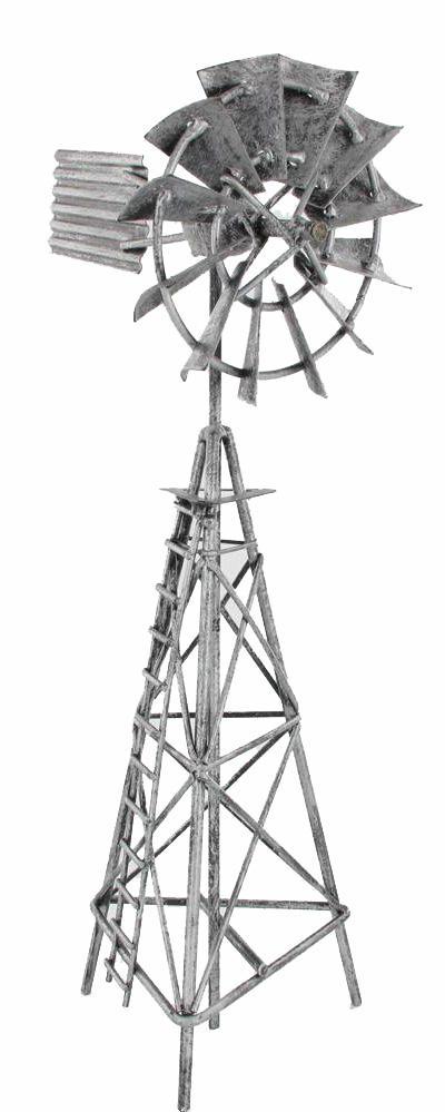 Metal Windmill 31cm