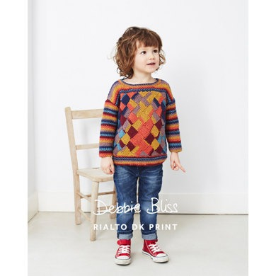 Debbie Bliss Kids Entrelac Sweater 8 Ply