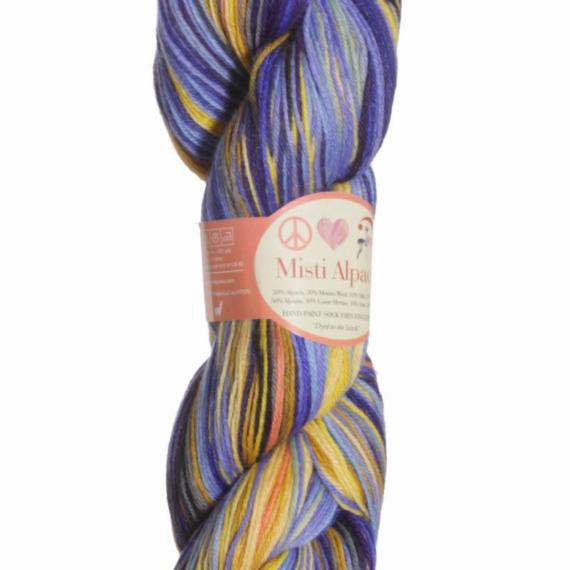 Misti Alpaca Hand Paint Sock 4 Ply 100g #71